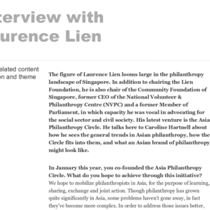 20160425_AllianceMagazine<br/><h6>Interview with Laurence Lien</h6>