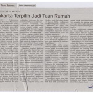 20161121_2_BisnisIndonesia<br><h6>Jakarta Terpilih Jadi Tuan Rumah</h6>