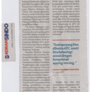 20161123_KoranSindo<br/><h6>Filantropi Indonesia Akan Bantu Pendidikan</h6>