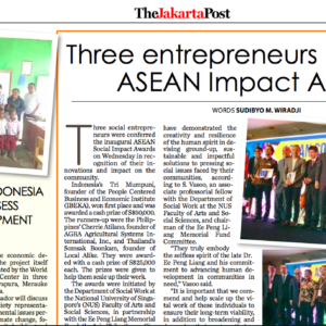 20180323_JakartaPost<br/><h6>Three entrepreneurs bestowed ASEAN Impact Awards</h6>
