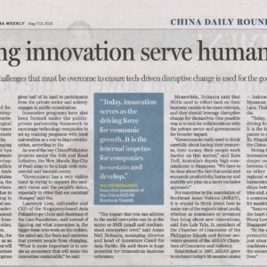 20180507_China Daily<br/><h6>Making innovation serve humanity</h6>